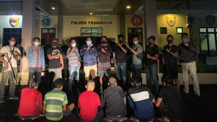 Satgas Operasi Cempaka Polres Pesawaran Ringkus Bandar dan Pelaku Judi Togel Online