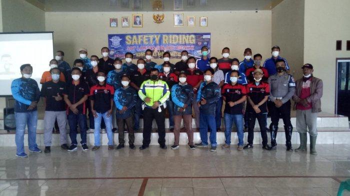Gelar Safety Riding, Satlantas Polres Mesuji Gandeng Komunitas Mobil