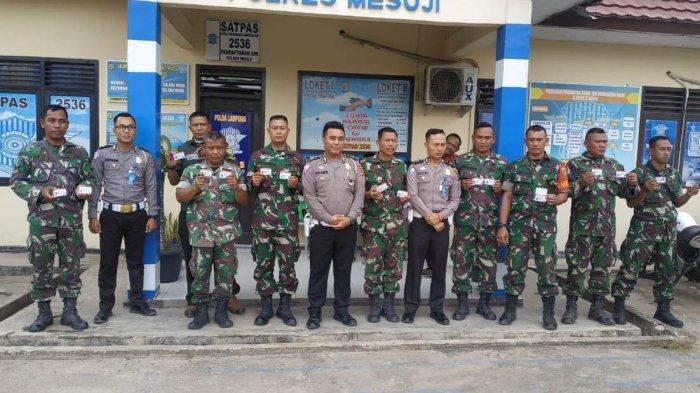 Spesial HUT ke-74 TNI, Satlantas Polres Mesuji Gratiskan Perpanjangan SIM Khusus Anggota TNI