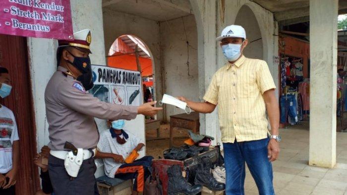 Satlantas Polres Way Kanan Imbau Masyarakat Tertib Berlalulintas dan Patuhi Prokes