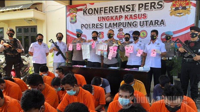 Satresnarkoba Polres Lampung Utara Ringkus 31 Orang Penyalahguna Narkoba