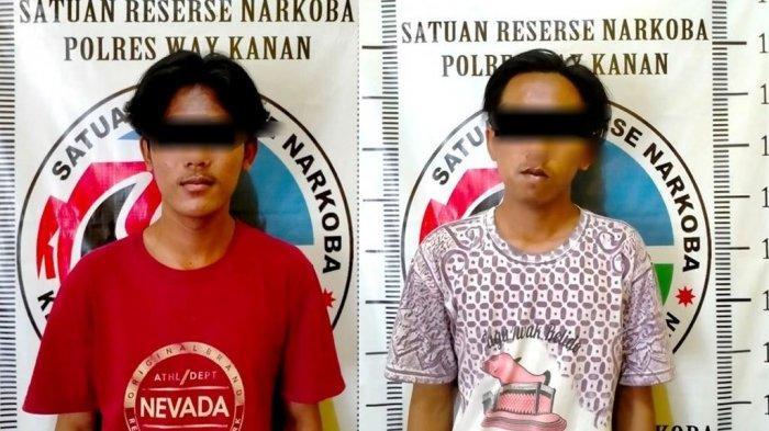 Satresnarkoba Polres Way Kanan Amankan Dua Pelaku Pengedar Sabu di Jalinsum Lampung