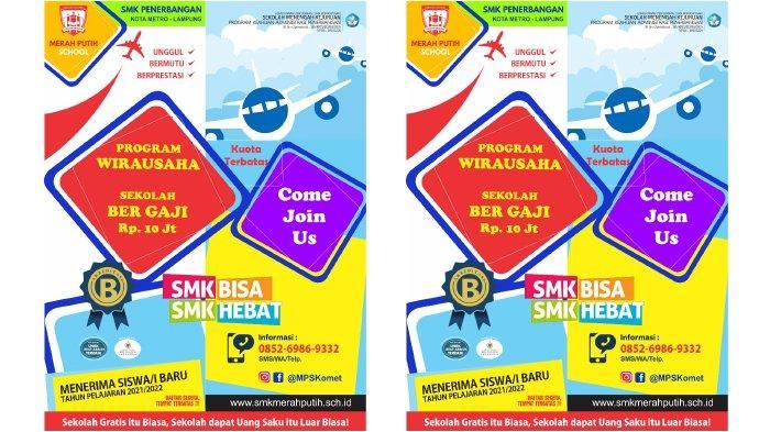 Satu-satunya di Lampung, Sekolah Bergaji Rp 10 Juta di SMK Penerbangan Merah Putih