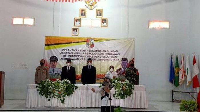 Sebanyak 489 Kepala Sekolah di Kabupaten Lampung Utara Resmi Dilantik