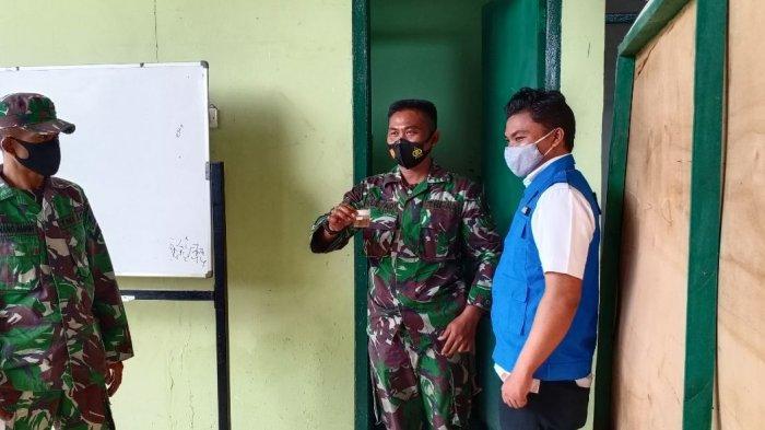 Kodim 0427/Way Kanan Gandeng BNN Kabupaten Gelar Test Urine Anggota