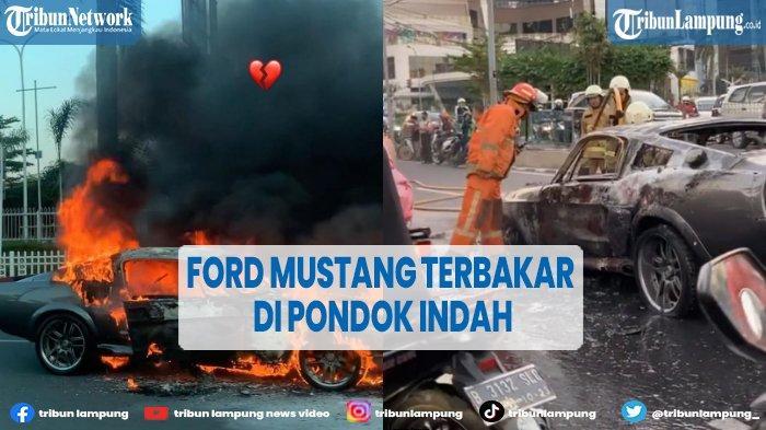 Mobil Ford Mustang 1966 Terbakar di Pondok Indah Jaksel