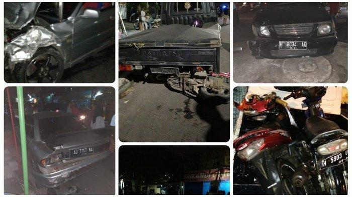 Mobil Sedan Kabur setelah Tabrak Motor, Tabrak 3 Kendaraan Lagi saat Melarikan Diri