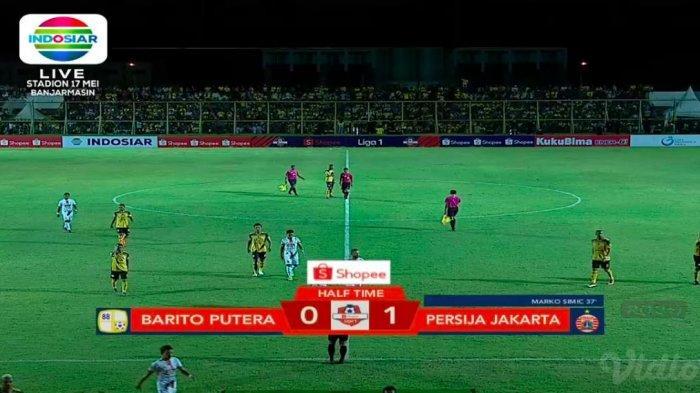 Sedang Berlangsung Live Streaming Barito Putera vs Persija, Skor 0-1