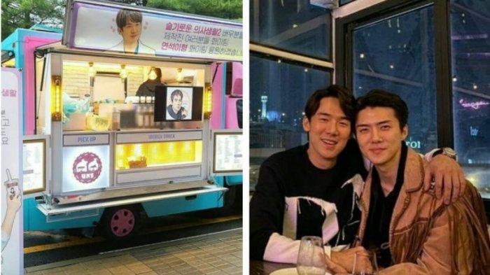 Semangati Yoo Yeon Seok, Sehun EXO Kirim Food Truck ke Lokasi Syuting Hospital Playlist 2