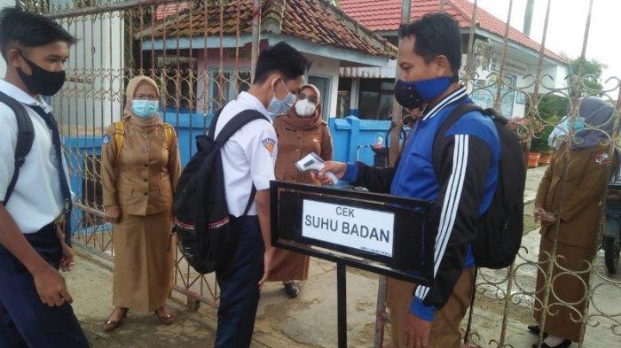 Sejumlah Sekolah di Lampung Utara Sudah Gelar KBM Tatap Muka