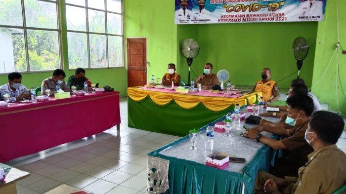 Sekda Syamsudin Sosialisasi PPKM di Kecamatan Rawa Jitu Utara dan Mesuji Timur Lampung