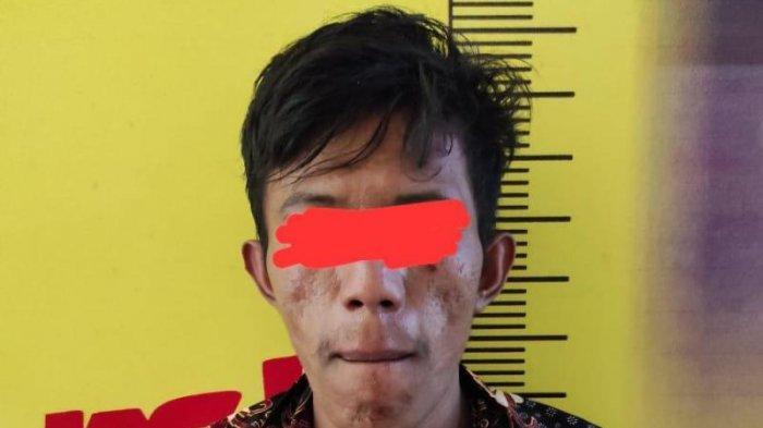 Seorang Wiraswasta Bawa Sabu Ditangkap di Depan SMP di Pesawaran