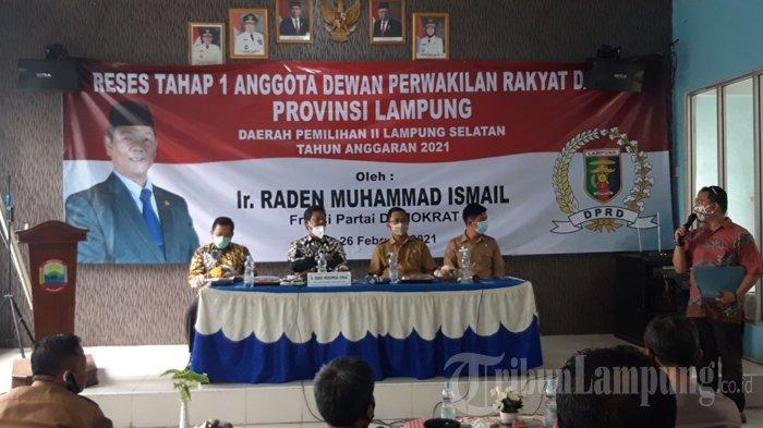 Serap Aspirasi saat Reses, Raden Muhammad Ismail Segera Berikan Solusi untuk Warga Natar.
