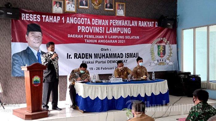 Serap Aspirasi saat Reses, Raden Muhammad Ismail Segera Berikan Solusi untuk Warga Natar