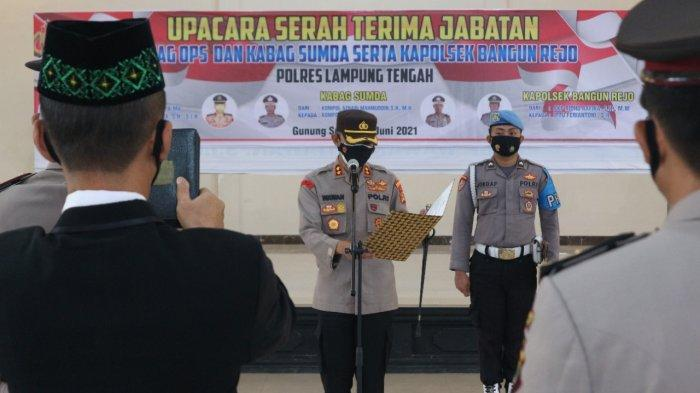 Kabag Ops dan Kabag Sumda Polres Lampung Tengah Berganti