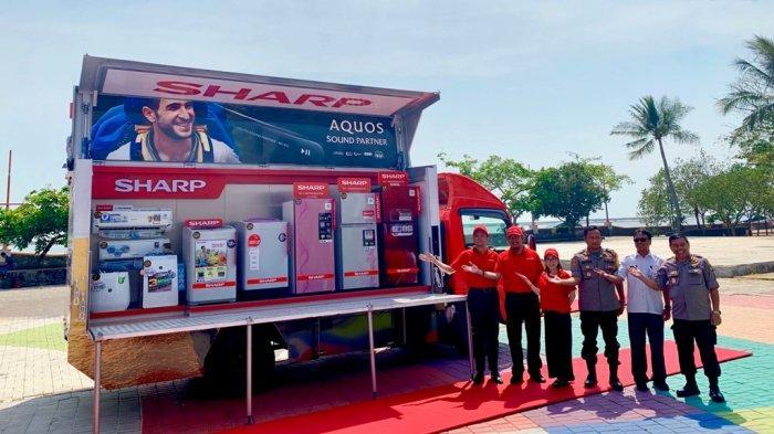 Serentak, Sharp Indonesia Luncurkan 5 Unit Sharp 50 Years Mobile Display Truck Keliling Nusantara