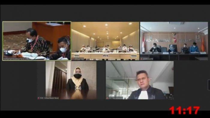 Sidang Sengketa PHP Pilkada Pesisir Barat, KPU Tolak Permohonan Aria-Erlina di Sidang MK