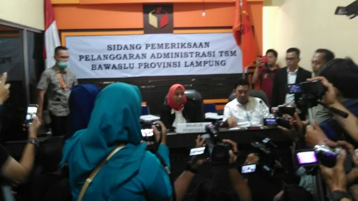 Komentar Ketua Bawaslu Lampung Seusai Sidang Putusan Dugaan Politik Uang