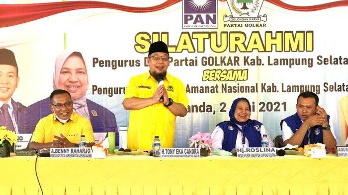 Golkar Lamsel Jalin Silaturahmi dan Komunikasi Politik Dengan PAN