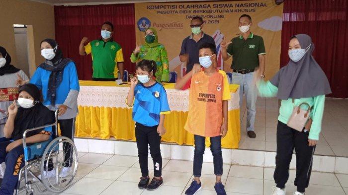 Siswa Penyandang Tunagrahita SLB Mesuji Raih Medali Emas di KOSN Lampung 2021