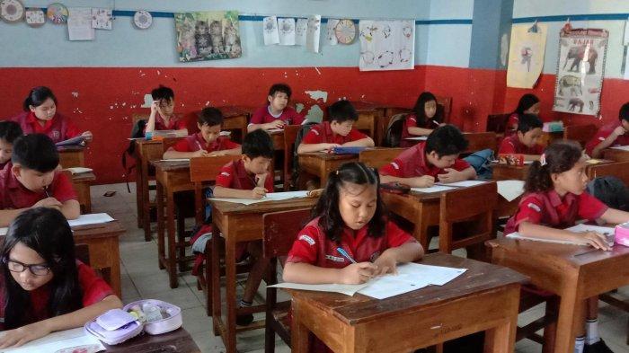 Siswa-siswi SD Immanuel Bandar Lampung Semangat Ikuti UTS TA 2019/2020
