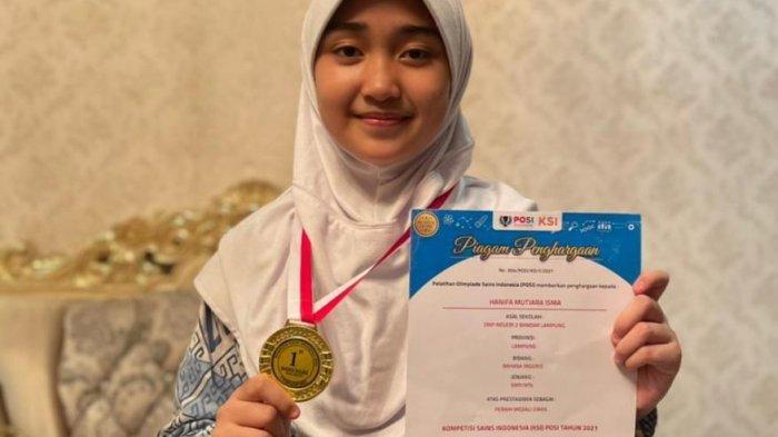 Cerita Muti Siswi SMPN 2 Bandar Lampung Juara Kompetisi Bahasa Inggris Tingkat Nasional 2021