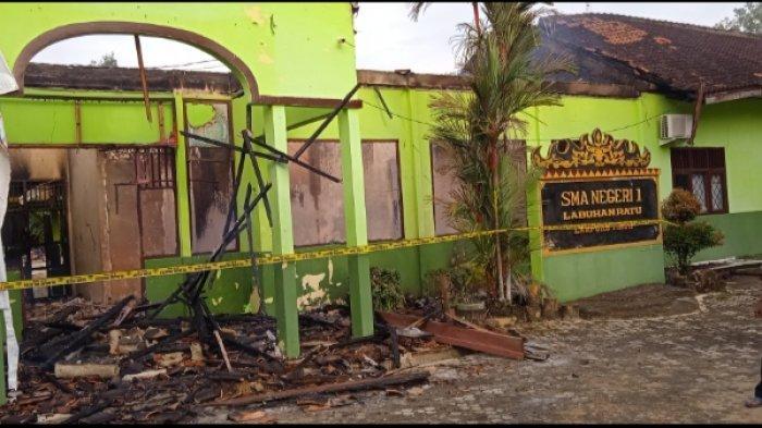 SMAN 1 Labuhan Ratu Lampung Timur Terbakar, 6 Ruangan Hangus