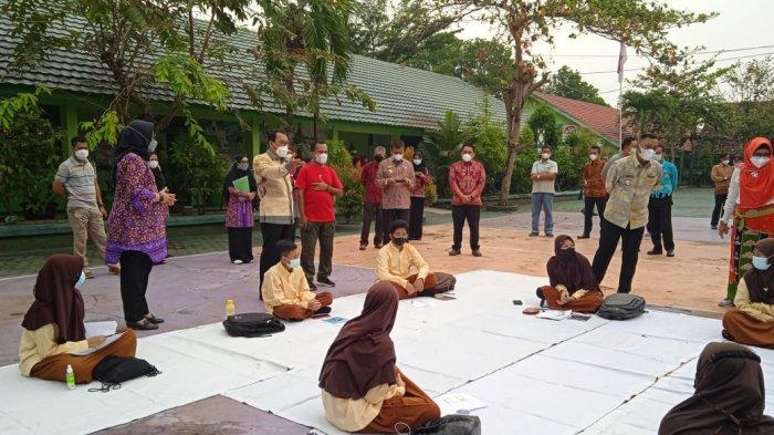 SMPN 2 Metro Lampung Gelar Simulasi KBM Tatap Muka, '73 Persen Wali Murid Setuju'