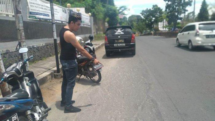 Lokasi penembakan sopir taksi online di Bandar Lampung.