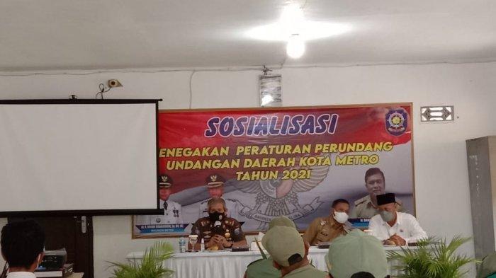 Wakil Wali Kota Metro Sosialisasi Penegakan Perda Ketertiban Umum