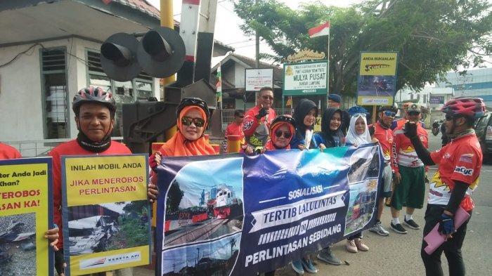 PT KAI Gelar Sepeda Santai dan Sosialisasi Tertib Lalu Lintas di Perlintasan Sebidang