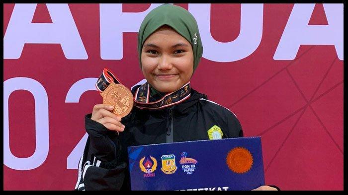 Sosok Elvanda Cantika Putri, Peraih Medali Emas untuk Aceh di Cabor Anggar PON XX Papua