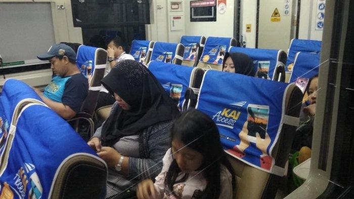 Pemudik di Stasiun KA Tanjungkarang Sudah Normal