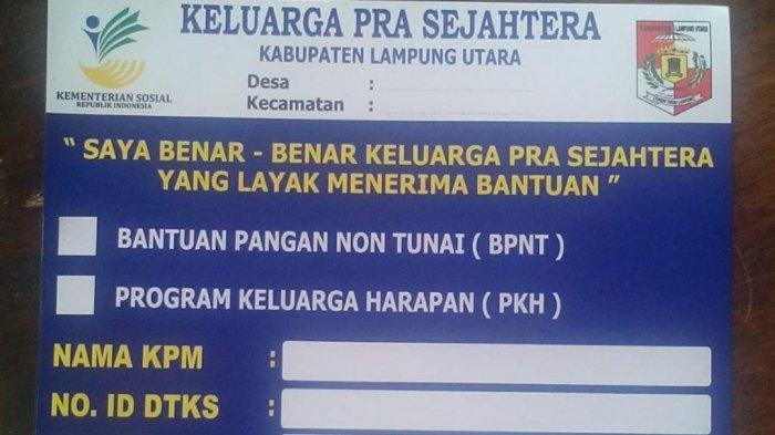 61.743 Rumah di Lampung Utara Akan Ditempel Stiker Penerima Bantuan