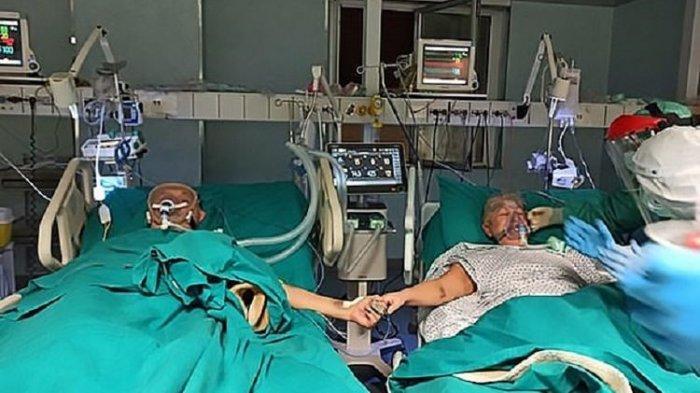 Suami Istri Positif Corona Rayakan 50 Tahun Pernikahan dengan Saling Pegangan Tangan di Ruang ICU RS