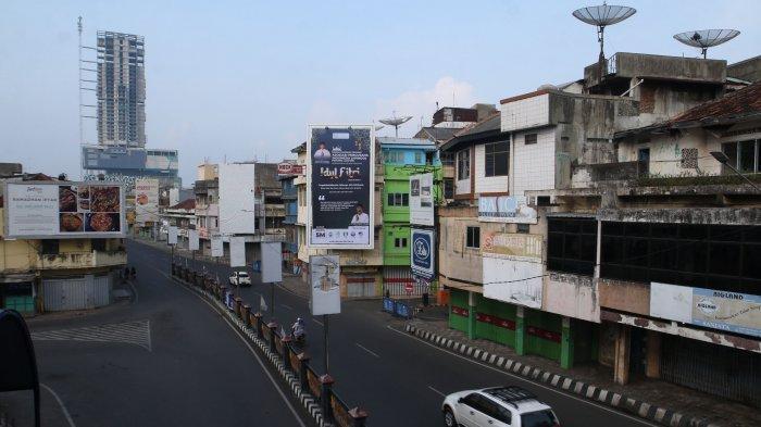 FOTO Hari Raya Idul Fitri 1442 Hijriah, Jalan Protokol di Bandar Lampung Terpantau Lengang
