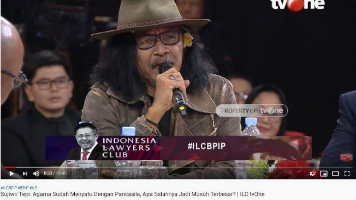 Sudjiwo Tedjo Tanggapi Pernyataan Ketua BPIP di ILC: Aku Enggak Bela Kaumnya Pak Jokowi Ya