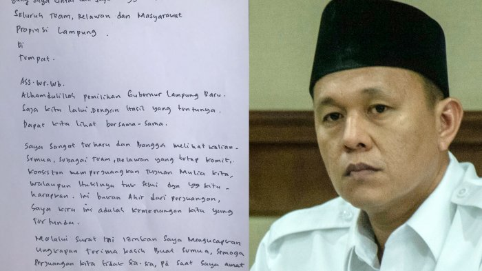 Cagub Lampung Mustafa Kirim Surat Lagi dari KPK, Isinya…