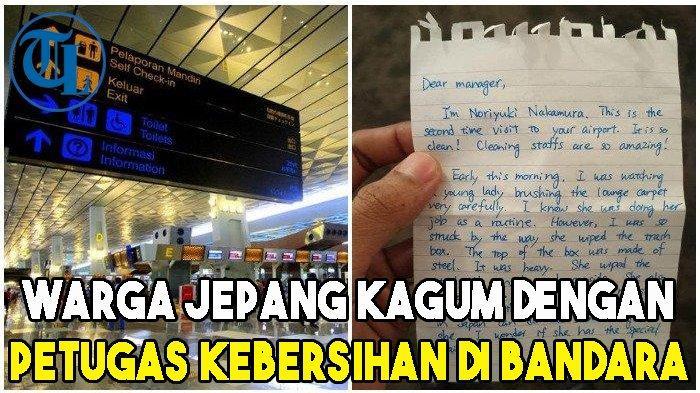 Surat Warga Jepang yang Kagum Petugas Kebersihan di Bandara Soekarno-Hatta