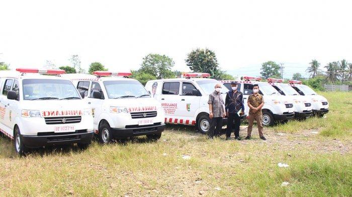 Suzuki Persada Menyerahkan 6 Unit Ambulance Suzuki APV untuk Desa di Kabupaten Pesawaran