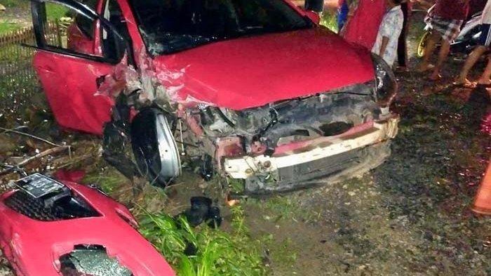 Tabrakan Maut Daihatsu Xenia vs Mazda di Lampung, Adu Kambing Saat Cuaca Mendung Seusai Magrib