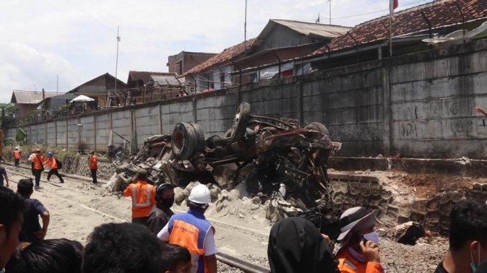 PT KAI Sudah Evakuasi Kereta Babaranjang Tabrakan dengan Truk di Bandar Lampung
