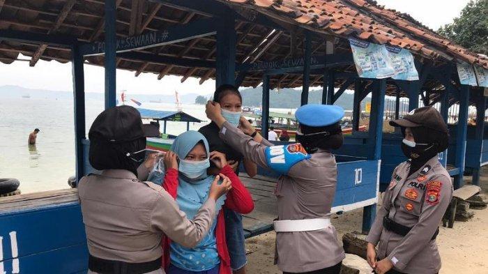 Tak Pakai Masker, 125 Pengunjung Wisata Pantai di Pesawaran Diberi Teguran Lisan