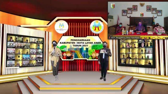 Tanggamus Lampung Terima Penghargaan Pratama Kabupaten Layak Anak 2021