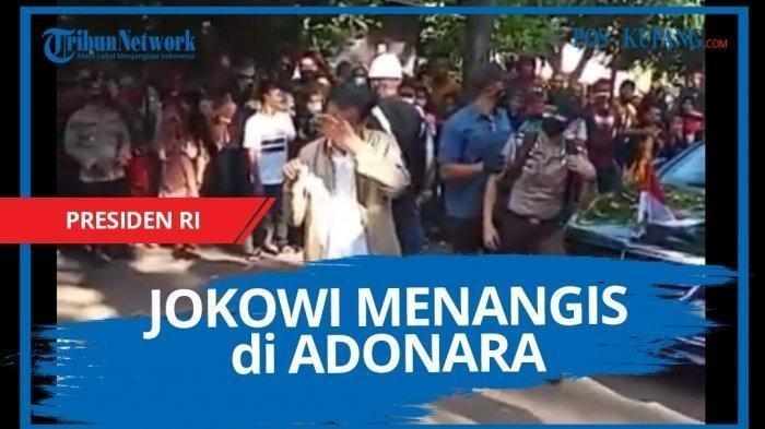 Kunjungi Korban Banjir di Pulau Adonara NTT, Baru Keluar Mobil Presiden Jokowi Sudah Pecah Air Mata