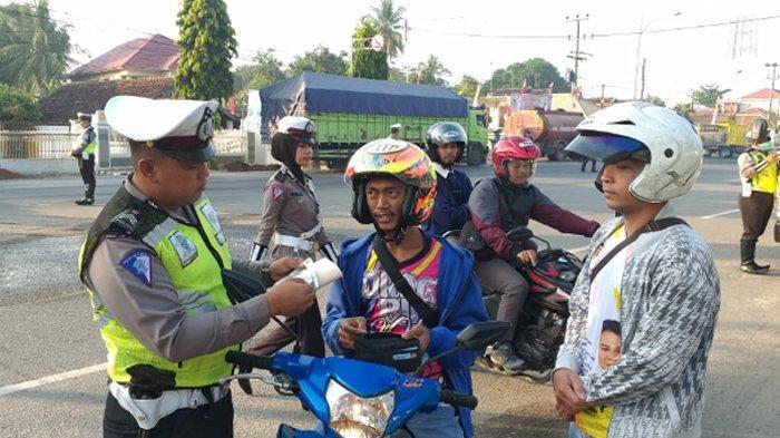 Target 7 Sasaran Operasi Patuh Krakatau 2019, Polres Lampung Tengah Tindak 100 Pelanggar Usia Dini