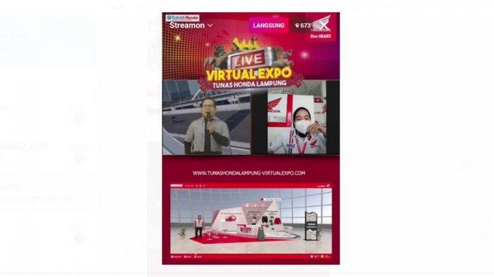Gelaran Live Virtual Expo Tunas Honda Lampung, Berhadiah Emas