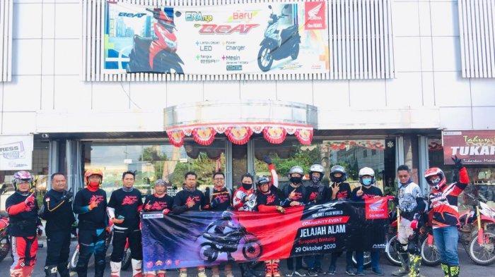 Tunas Honda Lampung Gelar CRF Jelajah Alam Bersama Komunitas Matic Honda