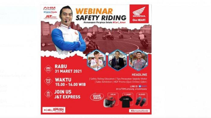 Tunas Honda Lampung Webinar Safety Riding Company