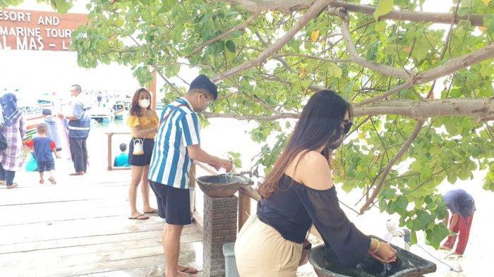 Setiap pengunjung Tegal Mas wajib cuci tangan dengan menggunakan sabun dan air mengalir di tempat yang disediakan di dermaga kedatangan. Tegal Mas buka kembali di awal 2021 dengan menjalankan protokol kesehatan yang ketat.